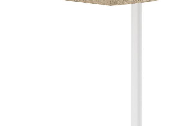Prima Corner desk top in Oak with White legs
