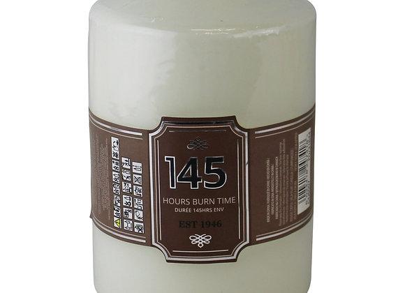 Cream Pillar Candle, 145hr Burn Time
