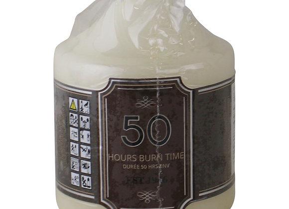 Overdipped Church Pillar Candle, 50 hour Burn Time