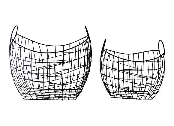 Set of 2 Wire Storage Baskets