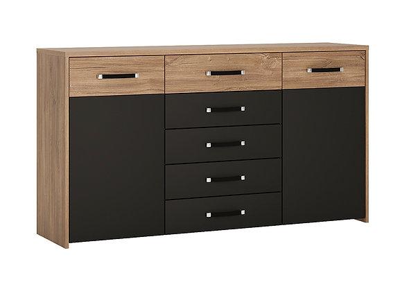 2 door 5 drawer wide cupboard