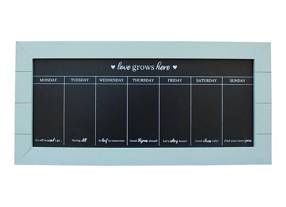 67x32 Chalkboard Week Planner, Green