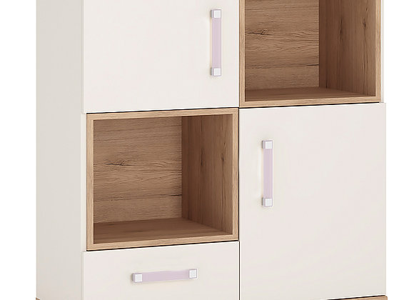 2 Door 1 Drawer Cupboard with 2 open shelves