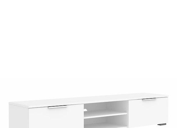 TV Unit 2 Drawers 2 Shelf in White High Gloss