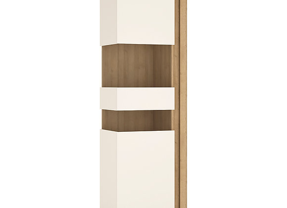 Tall narrow display cabinet (LHD) (including LED lighting)