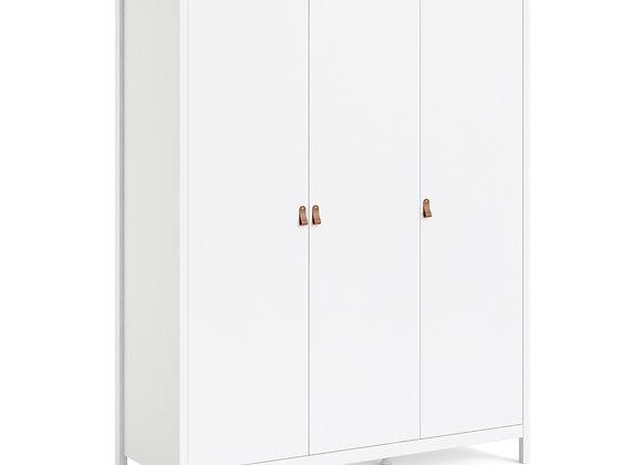 Barcelona Wardrobe with 3 doors in White