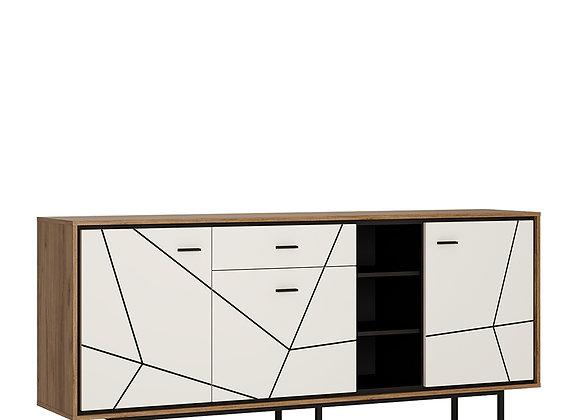 3 door 1 drawer wide sideboard