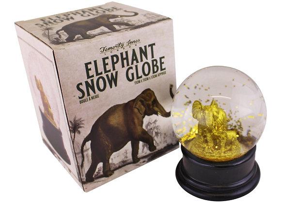 Golden Elephant Snow Globe