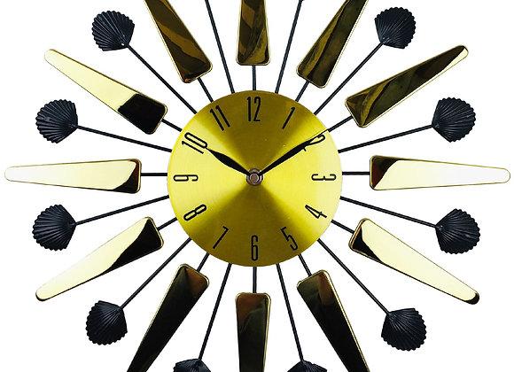 Gold Mirrored Effect Wall Clock 39cm