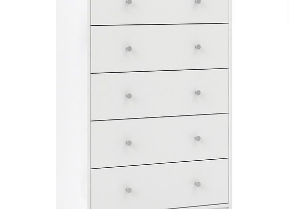 Chest of 5 Drawers in White