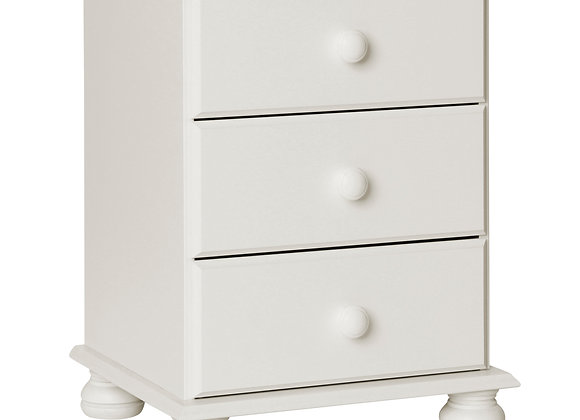 3 Drawer Bedside White