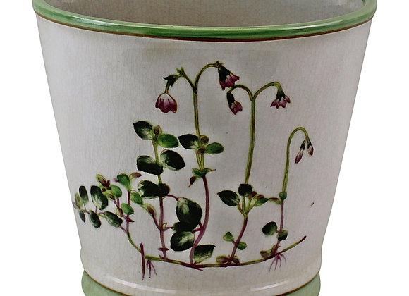 Ceramic Round Planter, Diameter 17cm