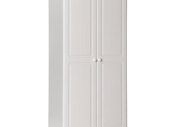 2 door Wardrobe in White