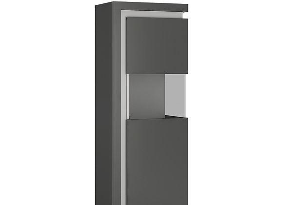 Narrow display cabinet (RHD) 164.1cm high (including LED lighting)