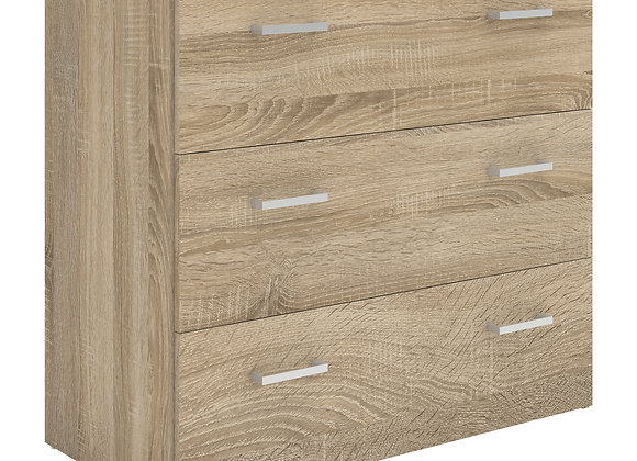 Chest of 3 Drawers in Oak