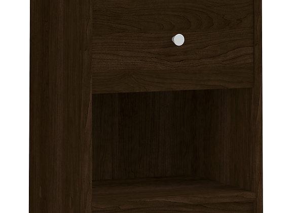 Bedside 1 Drawer in Dark Walnut