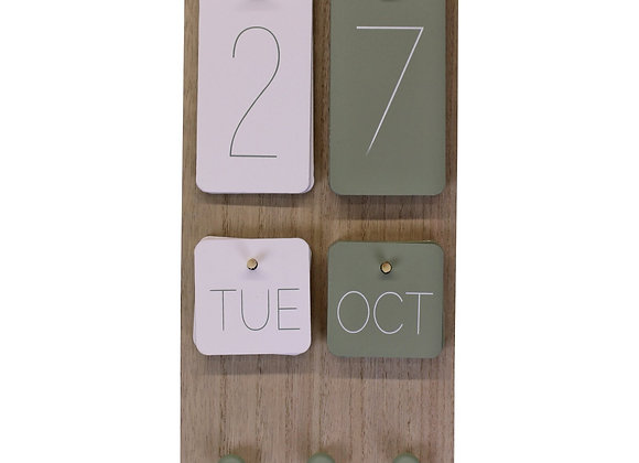 Wall Hanging Calendar, Eucalyptus Range
