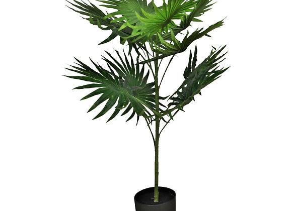 Artificial Fan Palm Tree with 10 leaves, 100cm