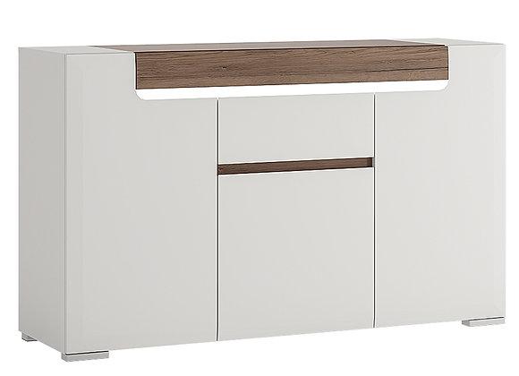 3 Door 1 Drawer Sideboard (inc Plexi Lighting)