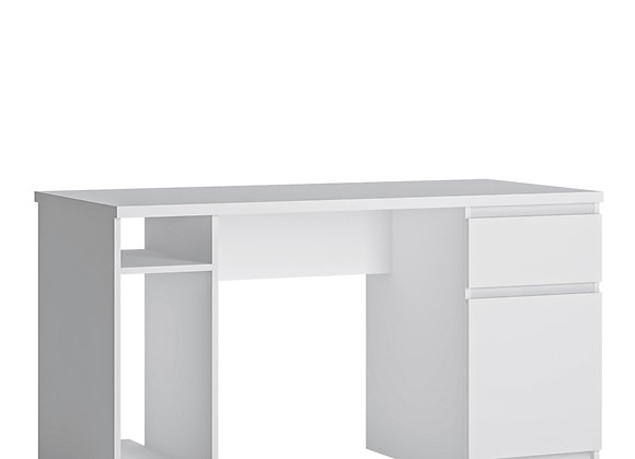 Fribo 1 door 1 drawer twin pedestal desk in White