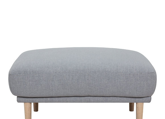 Larvik Footstool - Grey, Oak Legs