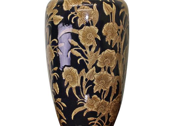 Ceramic Embossed Vase, Regal Design 35cm