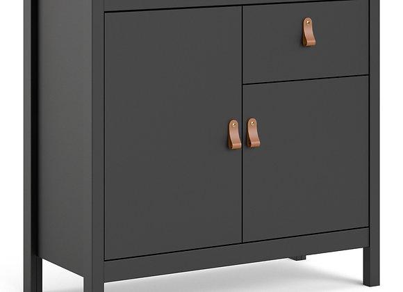 Barcelona Sideboard 2 doors + 1 drawer in Matt Black