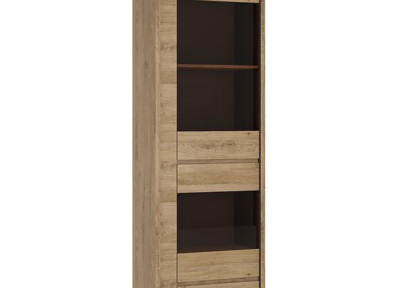 1 Door 1 Drawer Narrow Glazed display cabinet