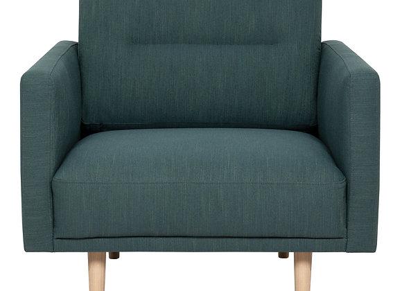 Larvik Armchair - Dark Green, Oak Legs