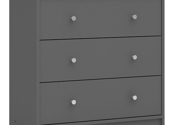 Chest of 3 Drawers in Grey