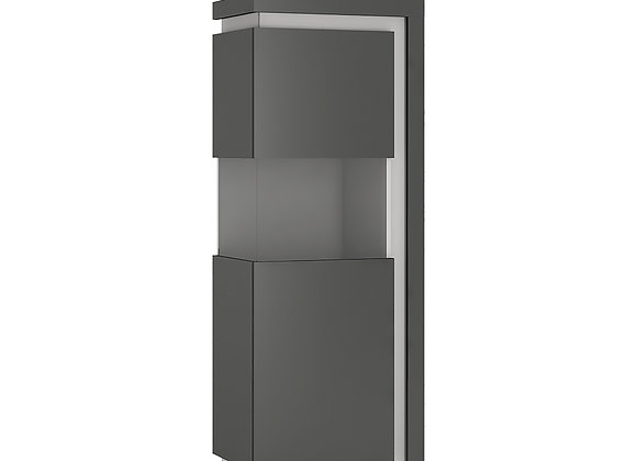 Narrow display cabinet (LHD) 164,1cm high (including LED lighting)