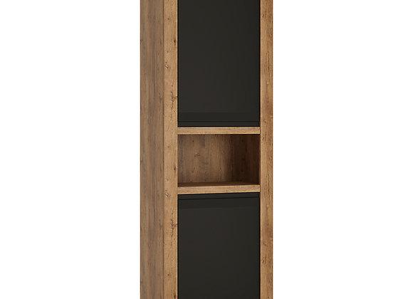 2 door tall cupboard with open shelf