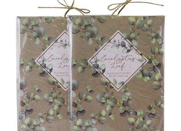 Set of 2 Eucalyptus Leaf Fragranced Sachets, 60gm