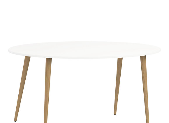 Dining Table - Large (160cm) in White and Oak