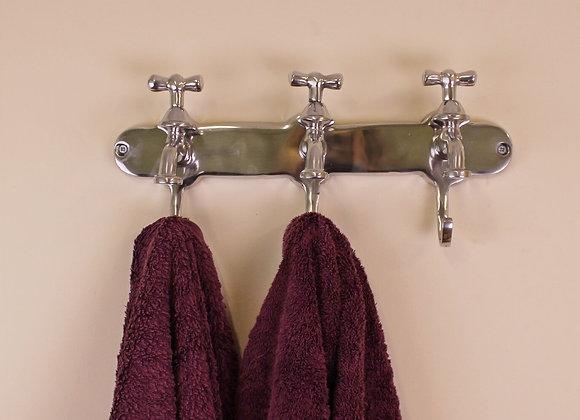 Towel Holder, Three Hooks With Tap Desgin
