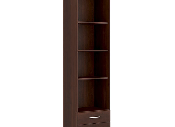 Tall 2 Drawer Narrow Cabinet open shelving