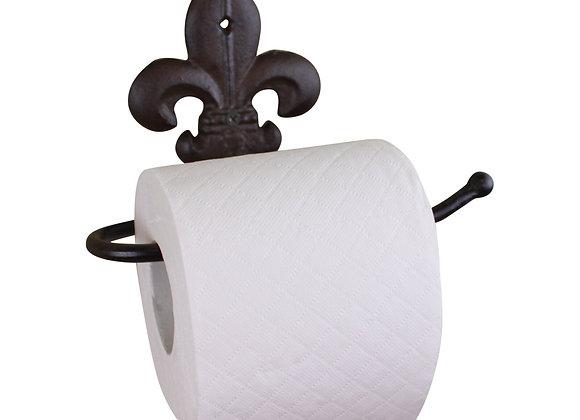 Cast Iron Rustic Toilet Roll Holder, Fleur de Lis
