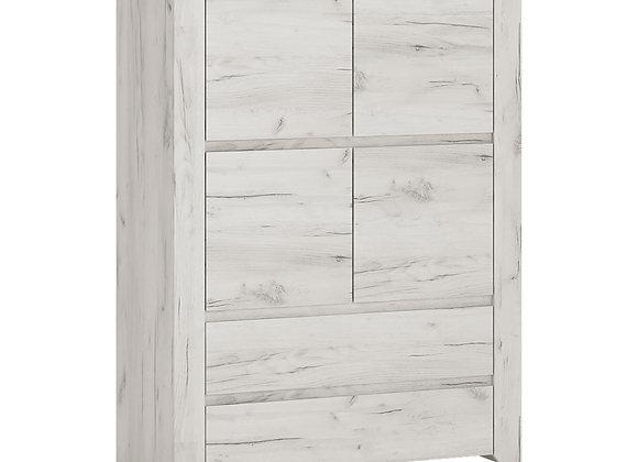 4 Door 2 Drawer Cupboard