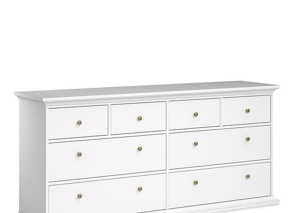 Chest of 8 Drawers in White