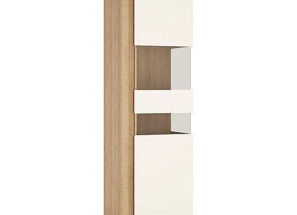 Tall narrow display cabinet (RHD) (including LED lighting)