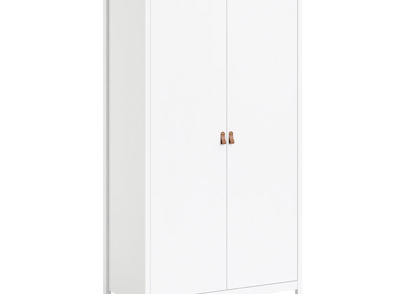 Barcelona Wardrobe with 2 doors in White