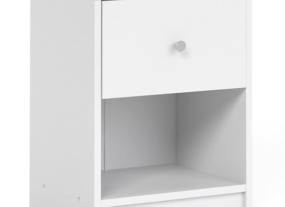 Bedside 1 Drawer in White