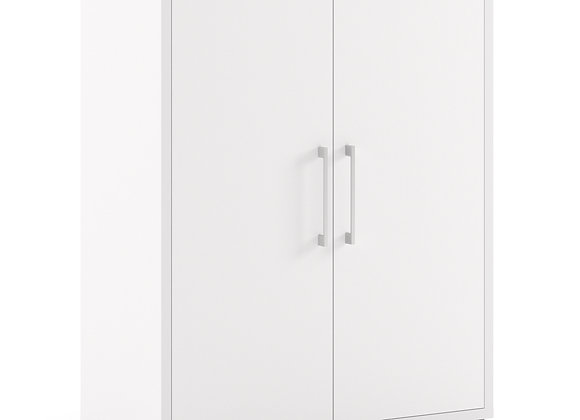 Prima Bookcase 2 Shelves with 2 Doors in White