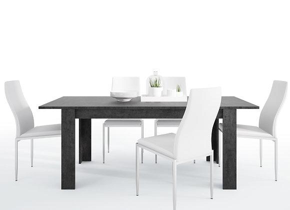 Dining set package Zingaro Dining table + 6 Milan High Back Chair White.