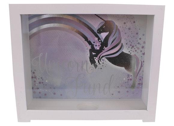 Unicorn Design Wooden Money Box