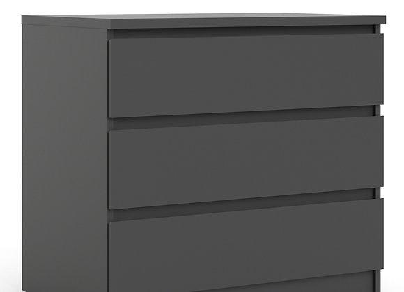 Chest of 3 Drawers in Black Matt