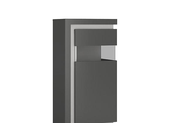 Narrow display cabinet (RHD) 123.6cm high (including LED lighting)
