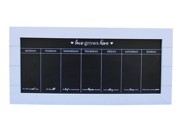 67x32 Chalkboard Week Planner, Grey
