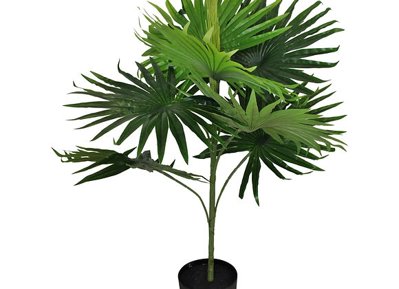 Artificial Fan Palm Tree with 8 leaves, 80cm