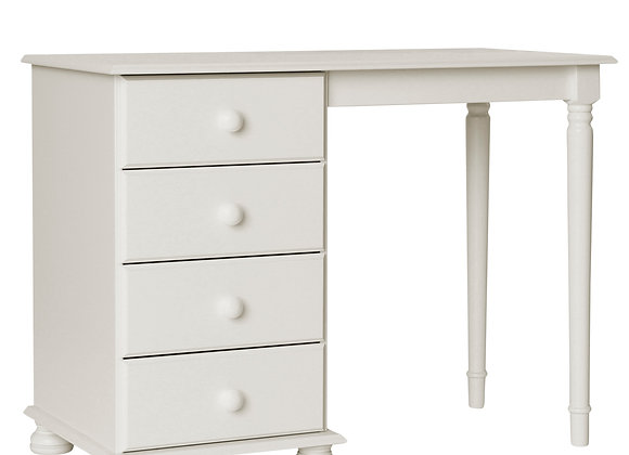 Single Dressing Table in White